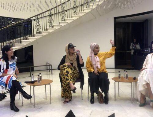 Models in Saudi Designs Stroll the Cat Walk in New York